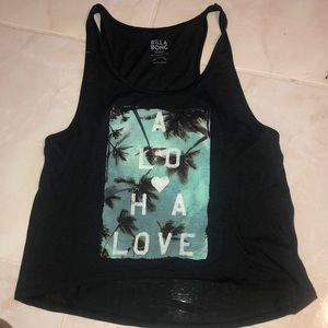 Dark Gray Billabong Aloha tank